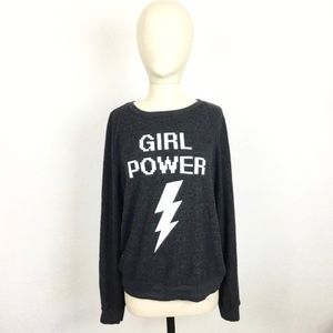 Wildfox Girl Power Graphic Pullover Sweater